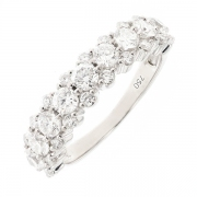 Alliance diamants 0.91 carat en or blanc