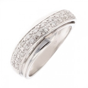 Bague diamants 0.13 carat en or blanc