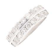 Alliance diamants 1.26 carats en or blanc
