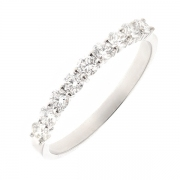 Demi-alliance diamants 0.54 carat en or blanc