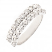 Alliance diamants 0.48 carat  en or blanc