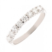 Alliance diamants 0.56 carat en or blanc