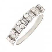 Alliance diamants 0.76 carat en or blanc