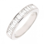 Alliance diamants 0.75 carat en or blanc