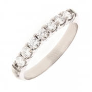 Alliance diamants 0.42 carat en or blanc