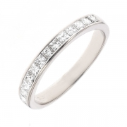 Alliance diamants 0.78 carat en or blanc