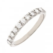 Alliance diamants 0.66 carat en or blanc