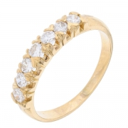 Demi-alliance diamants 0,56 carat en or jaune