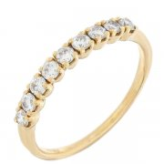 Demi alliance diamants 0,31 carat en or jaune