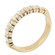 Demi-alliance diamants 0,54 carat en or jaune