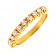 Demi-alliance diamants 0.30 carat en or jaune