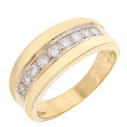 Demi-alliance diamants 0,27 carat en or jaune
