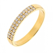 Demi-alliance diamants 0,26 carat en or jaune