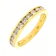 Demi-alliance diamants 0,80 carat en or jaune
