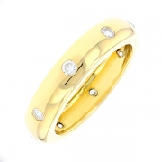 Alliance diamants 0.32 carat en or jaune