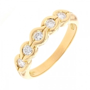 Demi-alliance diamants 0.25 carat en or jaune