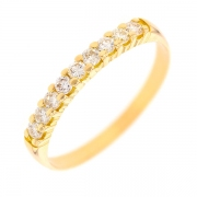 Demi-alliance diamants 0.22 carat en or jaune
