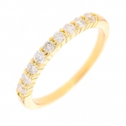 Demi-alliance diamants 0.36 carat en or jaune