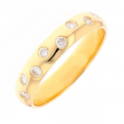 Alliance diamants 0.24 carat en or jaune