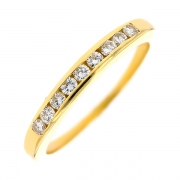 Demi-alliance diamants 0.27 carat en or jaune