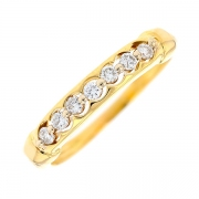 Demi-alliance diamants 0.21 carat en or jaune