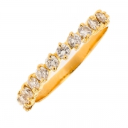 Demi-alliance diamants 0.33 carat en or jaune