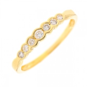 Demi-alliance diamants 0.24 carat en or jaune