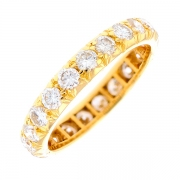 Alliance tour complet diamants 1.30 carat en or jaune