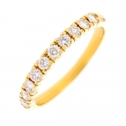Demi-alliance diamants 0.35 carat en or jaune