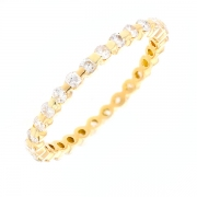 Alliance tour complet diamants 0.50 carat en or jaune