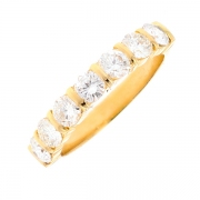 Demi-alliance diamants 1.40 carat en or jaune