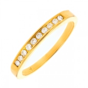 Alliance diamants 0.10 carat en or jaune