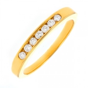 Alliance diamants 0.21 carat en or jaune