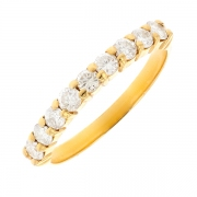 Alliance diamants 0.31 carat en or jaune