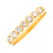 Alliance diamants 0.49 carat en or jaune