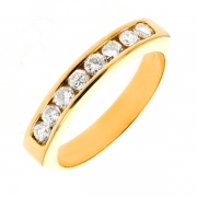 Alliance diamants 0.56 carat en or jaune