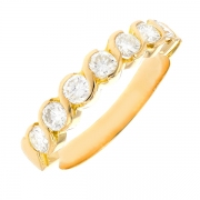 Alliance diamants 0.70 carat en or jaune