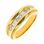 Bague diamants 0.60 carat en or jaune