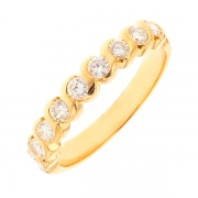 Alliance diamants 0.72 carat en or jaune