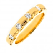 Alliance diamants 0.25 carat en or jaune