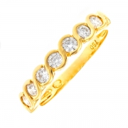 Alliance diamants 0.35 carat en or jaune