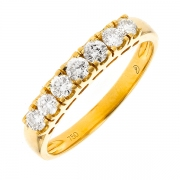 Alliance diamants 0.42 carat en or jaune