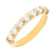 Alliance diamants 1.12 carat en or jaune