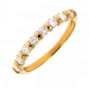 Alliance diamants 0.48 carat en or jaune