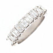 Demi-alliance diamants baguettes 1.90 carat en platine