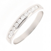 Demi-alliance diamants 0.28 carat en platine