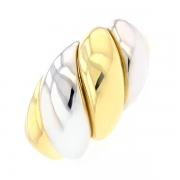 Bague en or bicolore 11.14grs