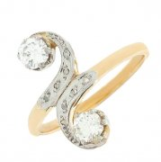 Bague tourbillon VOUS & MOI diamants 0,50 carat en or bicolore