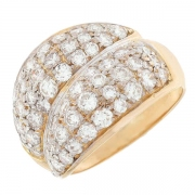 Bague diamants 1 carat en or bicolore
