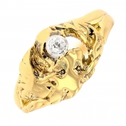 Bague diamant 0.08 carat en or jaune